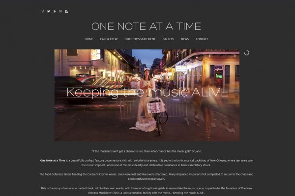 'ONE NOTE AT A TIME' WEBSITE
